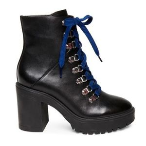 CHARLOTTE RUSSE BOOTS BLACK & BLUE SIZE 8